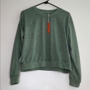 Sundry washed green pullover